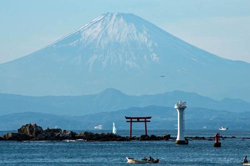 葉山からの富士山201312-8