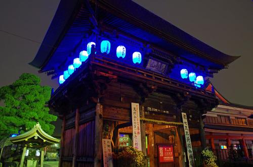 高幡不動ブルーライトアップ2013-10