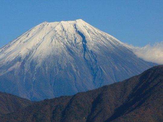 身延山からの富士山-9
