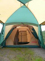 テントとタープ連結4