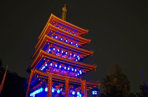高幡不動ブルーライトアップ2013-12