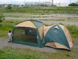 テントとタープ連結2