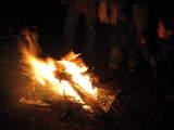 本栖湖キャンプ場焚き火