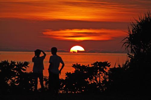 石垣島の夕暮れ201008-3