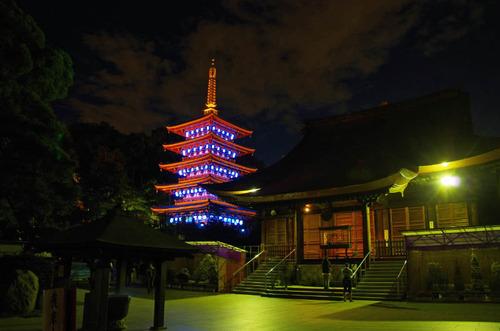 高幡不動尊ブルーライトアップ2012-6