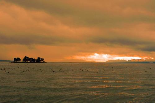 宍道湖の夕景201212-5